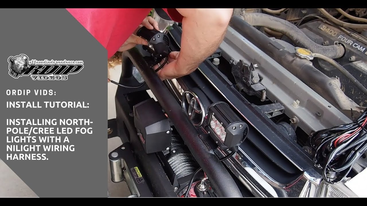 Ordip Vids How To Install Led Fog Lights A 2 Light Wiring Harness On Your 4x4