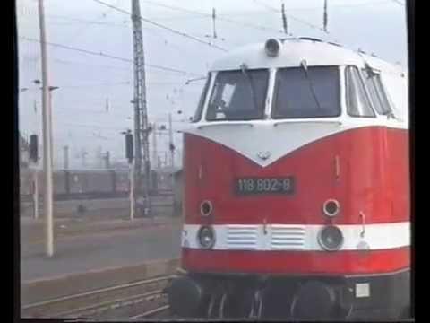 Leipzig nach Chemnitz mit BR 118 der DR  59 min.