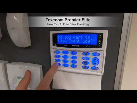Texecom Premier Elite View Event Log