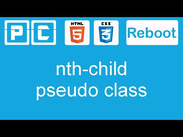 HTML5 and CSS3 beginners tutorial 26 - nth child pseudo class