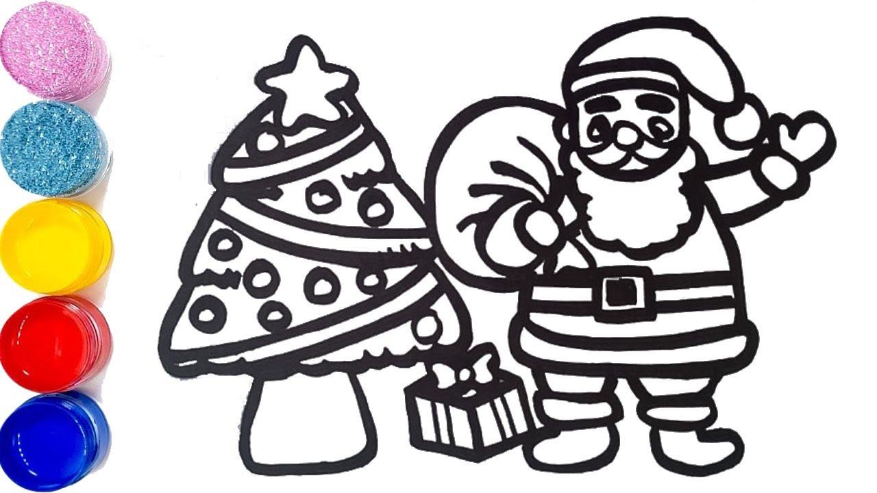 Merry Christmas Christmas tree Santa Claus and Christmas ...