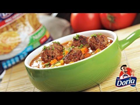 sopa tomate macarrones