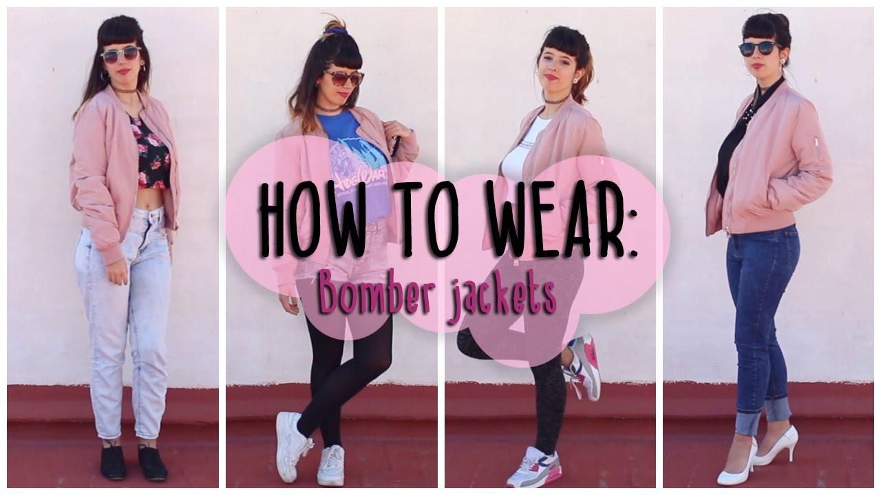 HOW TO WEAR: BOMBER JACKETS | 5 Looks diferentes | Sarah Diamond ...