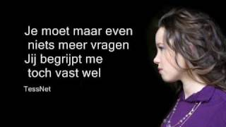 Tess Gaerthé - Niet lekker in mn vel with Lyrics