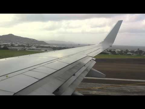 American Airlines 737-800 Takeoff from St Kitts Robert L Bradshaw Airport