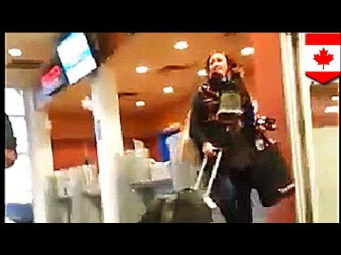 Woman totally loses her cool after missing her ferry in Victoria BC