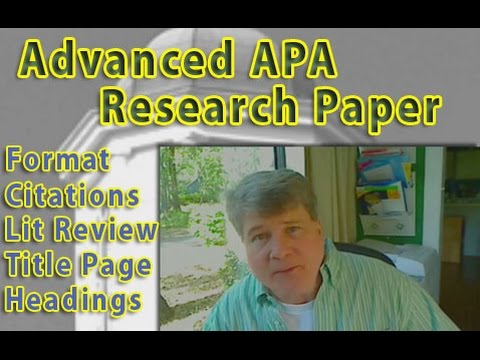 APA Research Essay Review of Model Paper with Literature Review
