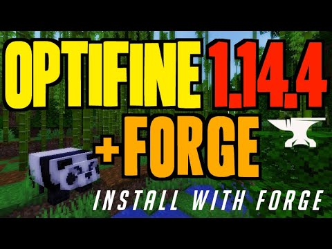 OPTIFINE 1.14.4 Minecraft - How To Download & Install Optifine With Forge (OptiForge 1.14.4)
