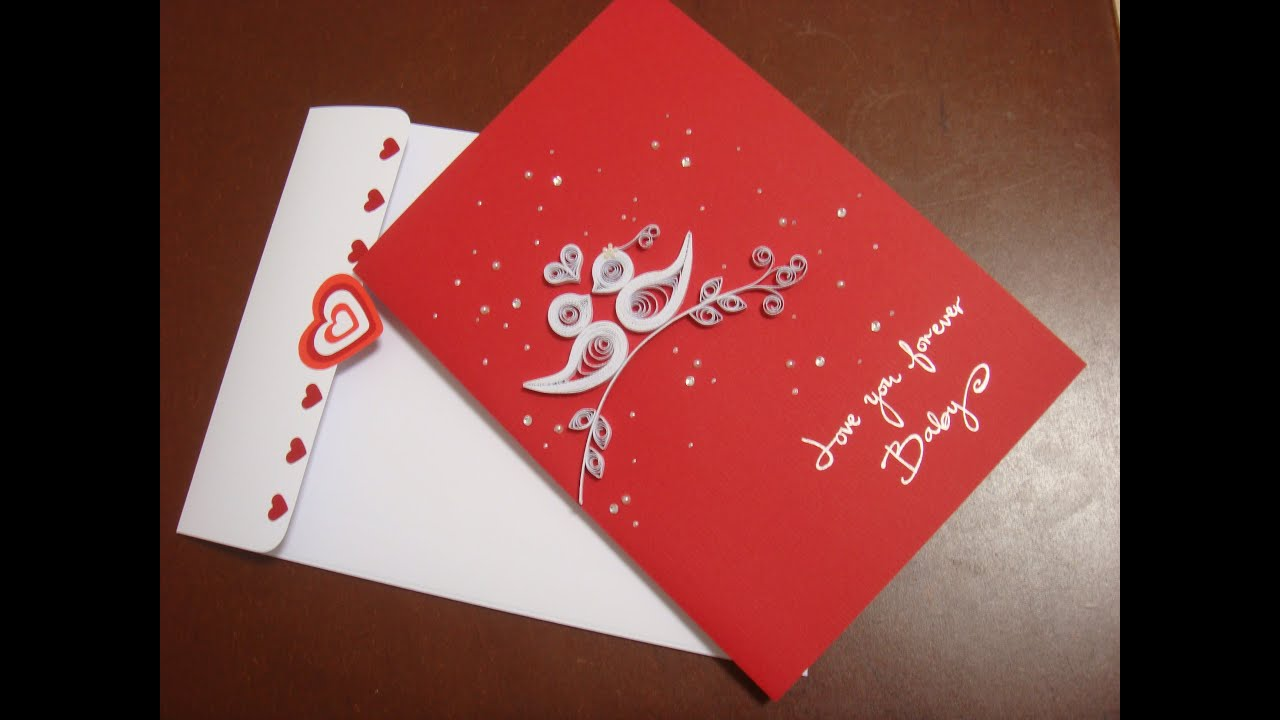 Love you forever baby love themed card