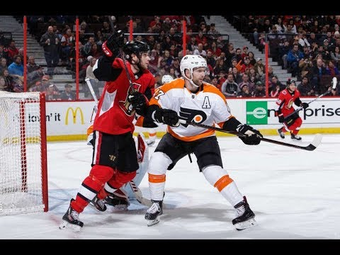 Philadelphia Flyers vs  Ottawa Senators, 24  february 2018