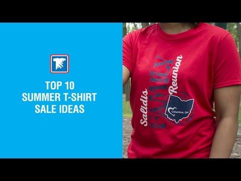 Top 10 Summer T-shirt Sale Ideas