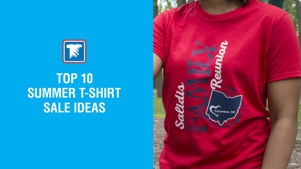 Top 10 summer t shirt sale ideas youtube for Top 10 t shirt designs