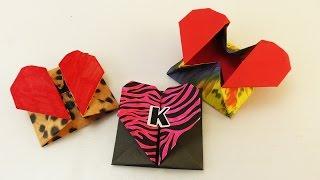 DIY Origami Box mit Herz Verschluss | Super süße Geschenk Idee | Aufbewahrung & Umschlag | Idee
