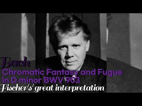 Bach Chromatic Fantasy and Fugue in D minor BWV 903. Edwin Fischer's great interpretation.