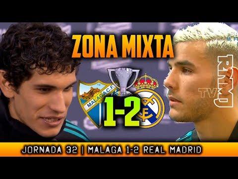 THEO y VALLEJO zona mixta post MALAGA 1-2 REAL MADRID (15/04/2018) | LIGA JORNADA 32
