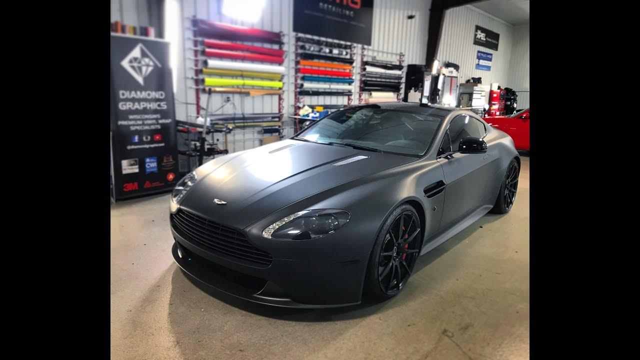 Aston Martin Vantage Gt Wrapped In Avery Dennison Matte Black