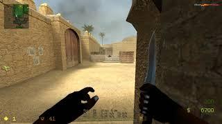 Counter:Strike Source Gameplay (720p HD) de_dust 2 Bots Easy / Видео
