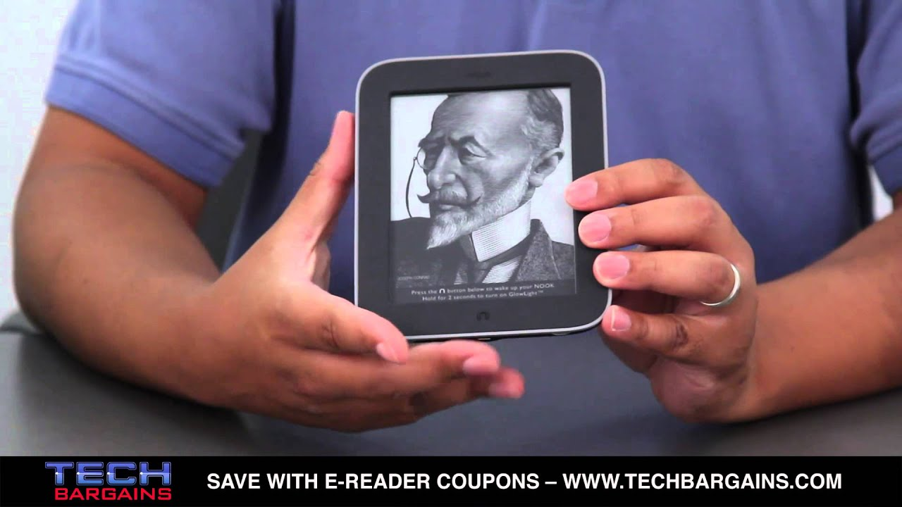 Barnes Noble Nook Simple Touch With GlowLight E Reader Unboxing