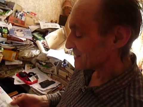 U.K. Hoarder Richard Wallace  Reads A Poem to His Papers