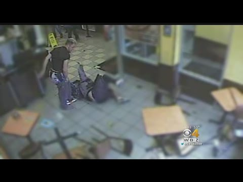 Video: Man Throws Tables, Chairs In Dunkin
