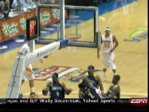FNL4.COM  Tennessee vs Marquette Dion James with the Block