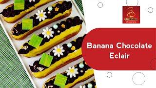 banana caramel chocolate eclair