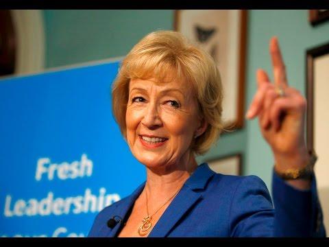 Andrea Leadsom launches leadership bid - video