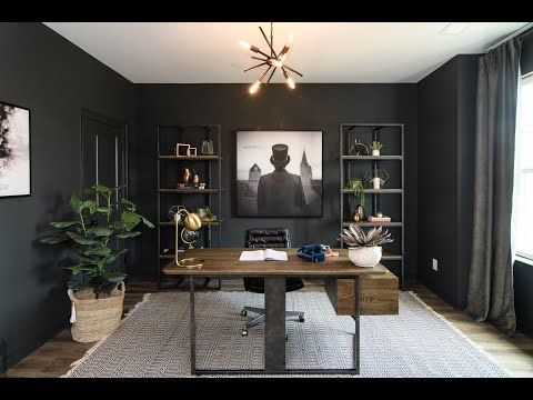 Creating a Masculine Home Office Design for Men | Dark and Bold