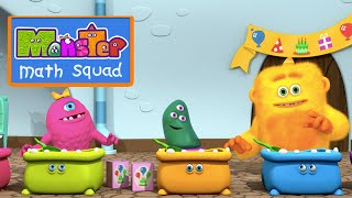 Monster Math Squad | FULL EPISODE | The Scoop Troop | Learning Numbers Series