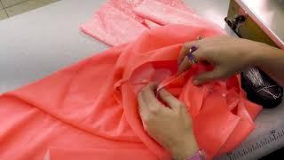 כיצד תופרים שמלה עם שרוול מתרחב?/Easy DIY - Littel dress with trumpet sleeve