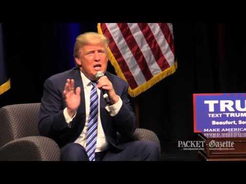 Donald Trump speaks at Beaufort High School