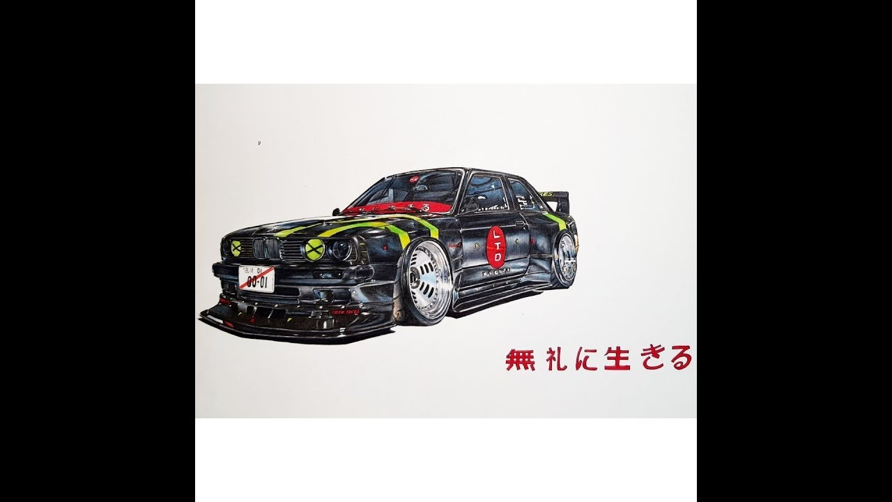 Live To Offend Bmw E30 M3 Drawing Youtube