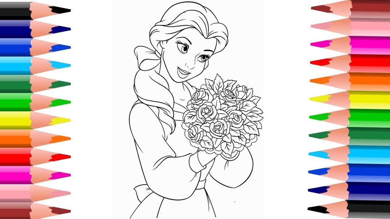 ระบายสี เจ้าหญิงเบลล์ Coloring Pages Princess Disney
