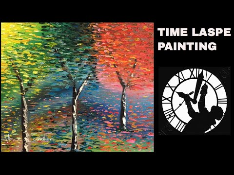 Autumn Trees Painting Time Lapse (2018)