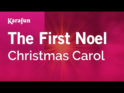 Karaoke The First Noel - Christmas Carol *