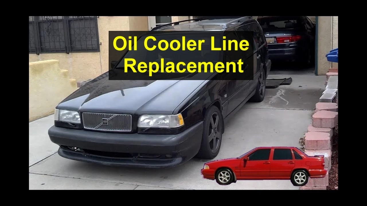 Engine oil cooler line replacement, turbo Volvo 850, S70 ...