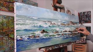 """October on the island of Batz"", seascape oil painting, by Nathalie JAGUIN"