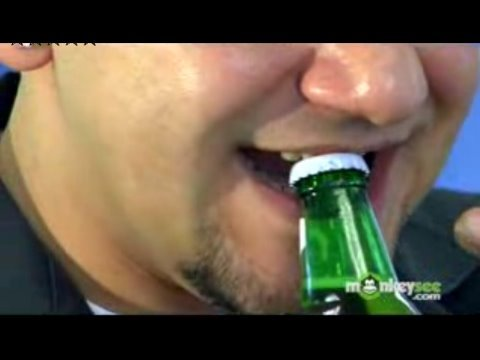 Open a Beer Bottle With Your Teeth