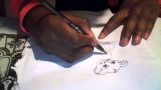How to draw Simba, Lion King!