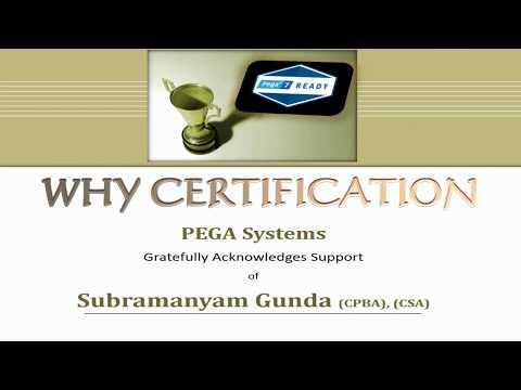 PEGA Certifications-why PEGA?