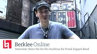 Berklee Online Interview: Steve Vai On His Audition for Frank Zappa's Band