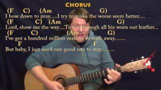 Million Reasons (Lady Gaga) Strum Guitar Cover Lesson in C with Chords/Lyrics