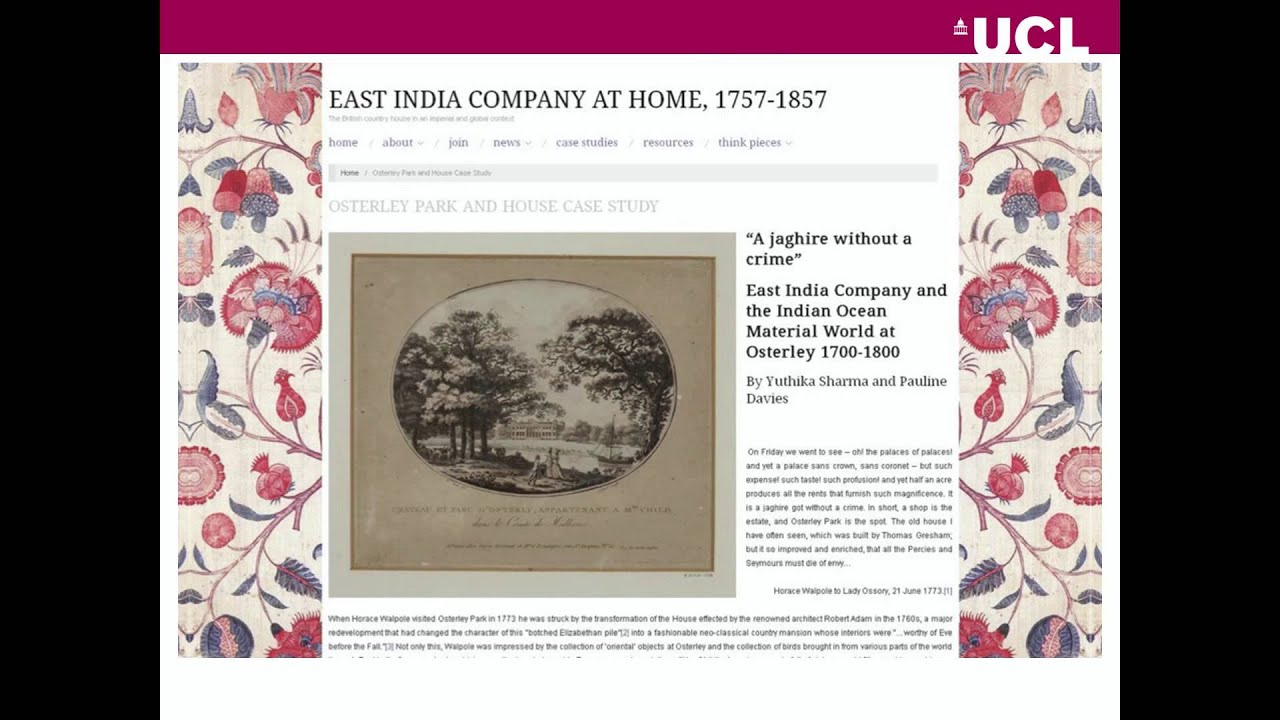 The Country House Company rethinking the english country house: 'indians' at home (19 mar 2015)