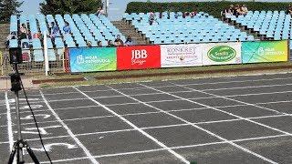 Finały sprintów na 100 m juniorów młodszych i juniorów