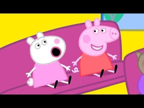Свинка Пеппа на русском все серии подряд   Пеппа играет на площадке   Мультики