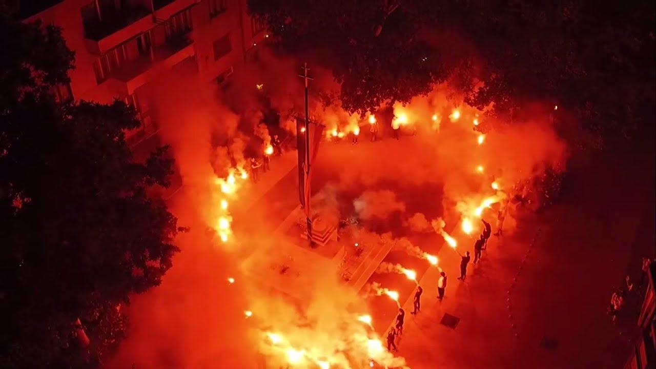 Tüzes akció Székesfehérváron a 100. évfordulón