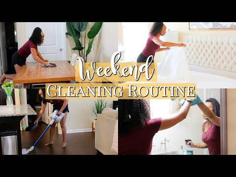 WEEKEND CLEANING ROUTINE 2019   SPEED CLEAN WITH ME   ULTIMATE CLEANING MOTIVATION