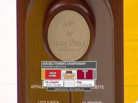 2017 Sun Belt Conference Women's Basketball Championship Highlights Troy vs Louisiana