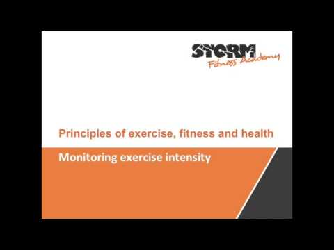 Monitoring exercise intensity