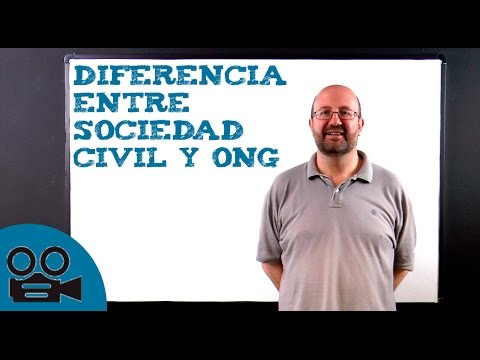 Diferencia entre sociedad civil y ONG